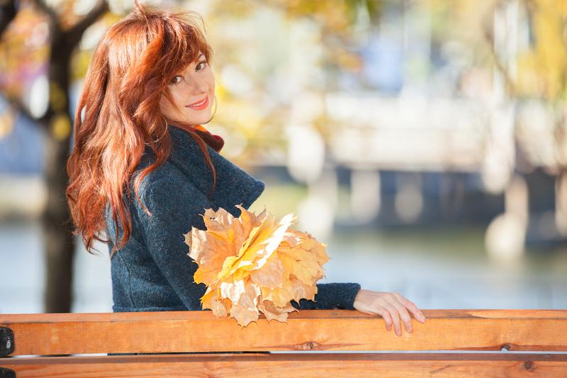 haar in de herfst