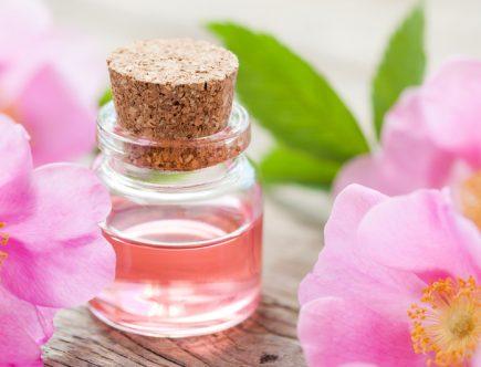 een flesje rosenwater